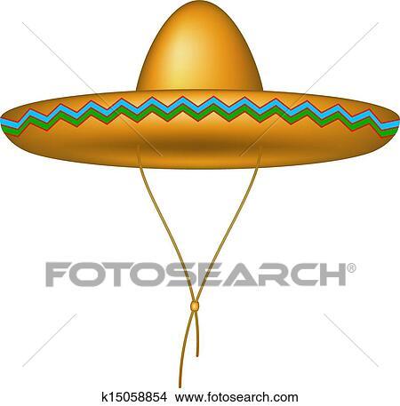 e67800ad0 Sombrero, klobúk Klipart | k15058854 | Fotosearch