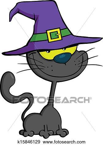 Clipart sourire chat chapeau magicien k15846129 recherchez des cliparts des - Dessin de chapeau de magicien ...