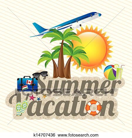 Clip Art Of Summer Vacation K14707436
