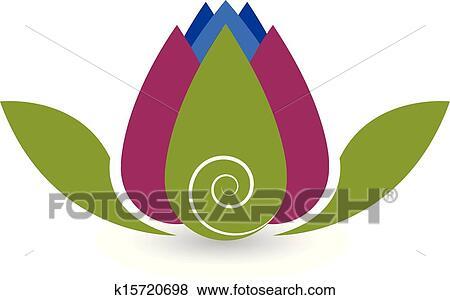 Clip art of swirly lotus flower yoga logo k15720698 search clipart clip art swirly lotus flower yoga logo fotosearch search clipart illustration posters mightylinksfo