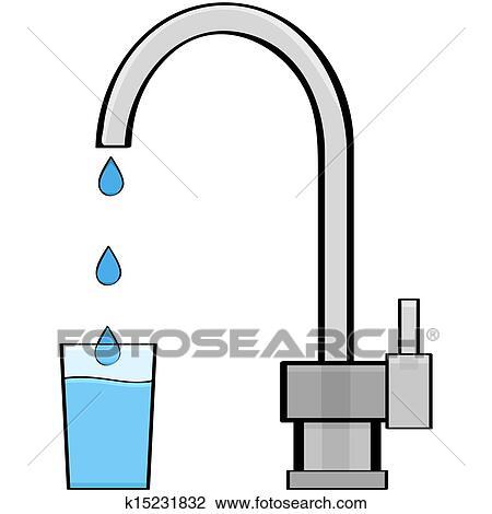 Tap water Clipart | k15231832 | Fotosearch