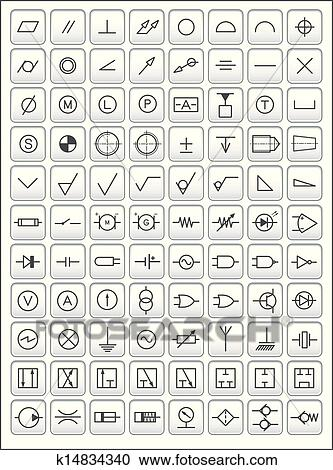 Clipart - technik, symbole k14834340 - Suche Clip Art, Illustration ...