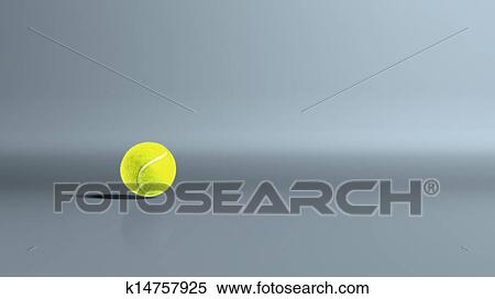 Stock Illustration Of Tennis Ball Bouncing K14757925 Search