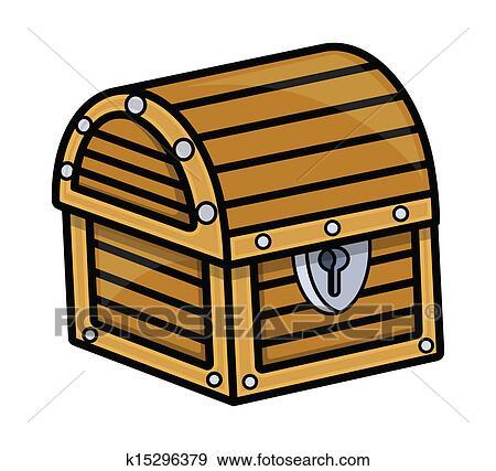 clip art of treasure box vector illustration k15296379 search rh fotosearch com treasure chest clip art kids treasure chest clipart transparent background