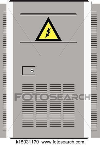Symbol Trafostation clipart - tuer, trafostation k15031170 - suche clip art