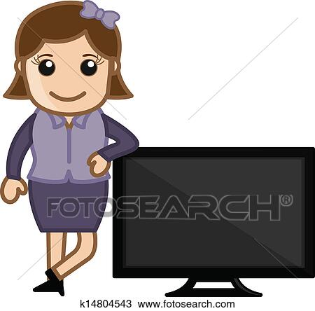clipart of tv presenter vector illustration k14804543 search rh fotosearch com circus presenter clipart radio presenter clipart