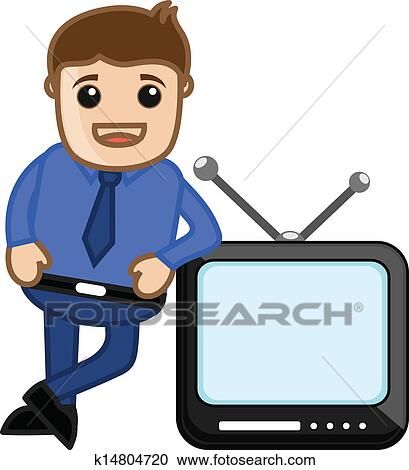 clipart of tv presenter vector illustration k14804720 search rh fotosearch com clipart presenter media