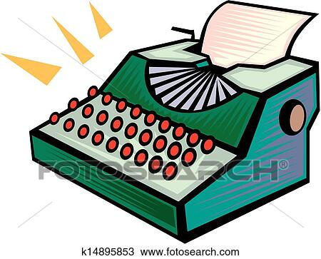 clipart of typewriter vector k14895853 search clip art rh fotosearch com typewriter clipart black and white typewriter clipart free