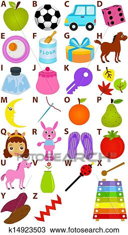 Vector Alphabet A to Z - Dictionary Clipart