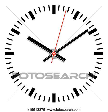 Vector clock face Clipart | k15513875 | Fotosearch