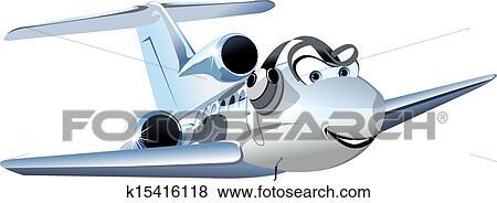 Vettore cartone animato civile utilità aeroplano clip art
