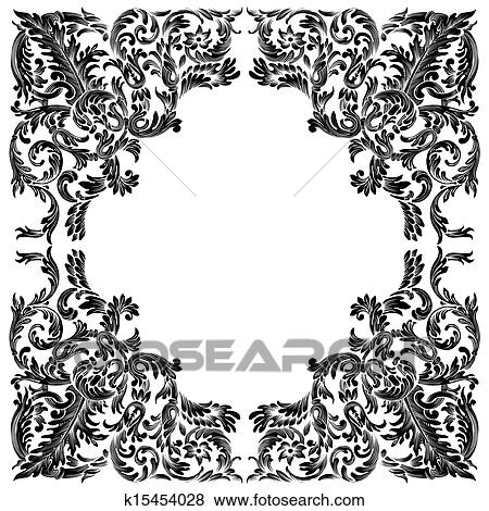 Clip Art of vintage baroque frame k15454028 - Search Clipart ...