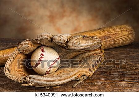 Stock Photography Of Vintage Baseball Memories K15340991