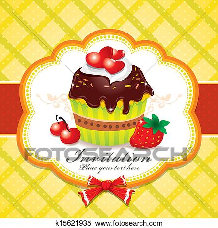 Clipart Of Vintage Cupcake Design Template K15621935 Search Clip