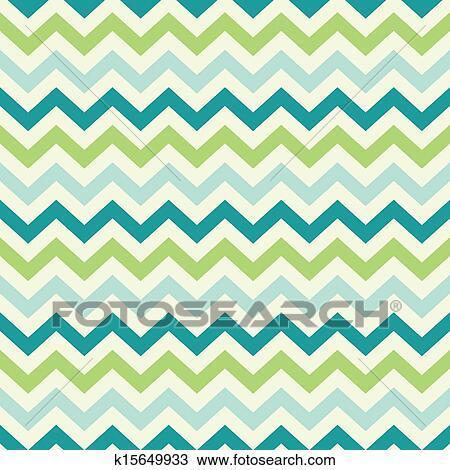 Vintage popular zigzag chevron pattern Drawing