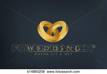 Wedding Rings Logo Design Template Creative Invitation Card