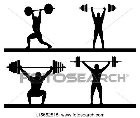 clipart of weightlifting k15652815 search clip art illustration rh fotosearch com weightlifting clipart gif weightlifting clipart free
