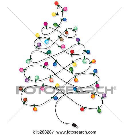Weihnachtsbaum Girlande.Weihnachtsbaum Girlande Clip Art