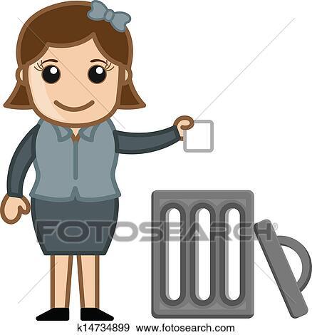 clip art of woman throwing garbage in trash k14734899 search rh fotosearch com old woman cartoon clipart old woman cartoon clipart