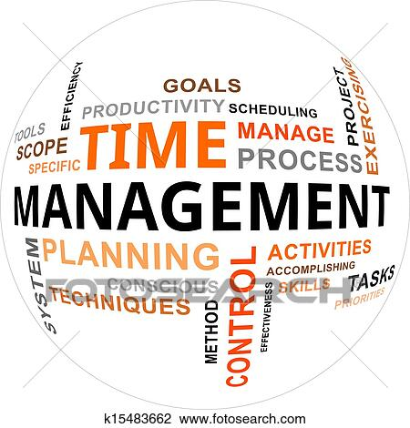 clipart of word cloud time management k15483662 search clip art rh fotosearch com time management clipart illustrations time management clipart images