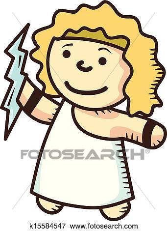 Clip Art Of Zeus Cartoon K15584547