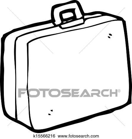 رسم كاريكتوري حقيبة سفر Clip Art K15566216 Fotosearch