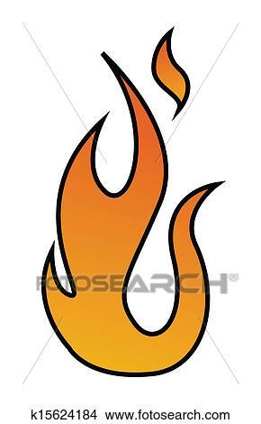 火 炎 ベクトル イラスト クリップアート切り張りイラスト絵画