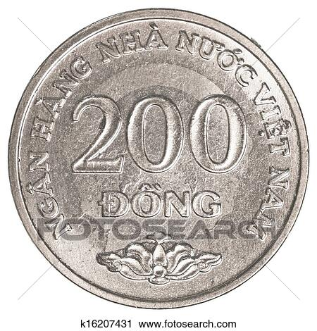 200 Vietnamese Dong Coin Isolated On White Background