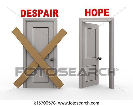 イラスト 3d 絶望 そして 希望 ドア K15700578 Epsクリップ