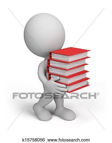 3d Personne A Documentation Banque D Illustrations K15758056 Fotosearch