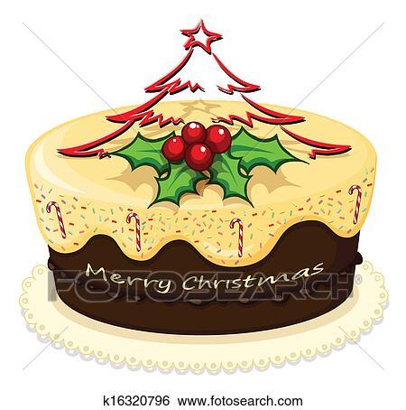 Clip Art A Kostlich Kuchen Fur Weihnachten K16320796 Suche