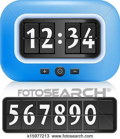Clipart Of Alarm Clock K15977213