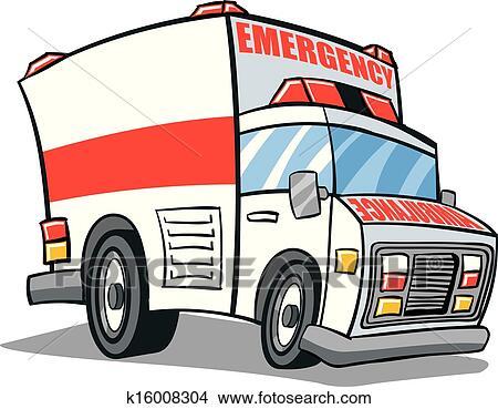 clipart of ambulance k16008304 search clip art illustration rh fotosearch com clipart ambulance driver clipart ambulance free