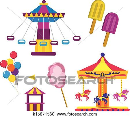 clipart of amusement park k15871560 search clip art illustration rh fotosearch com park clip art free park clipart free
