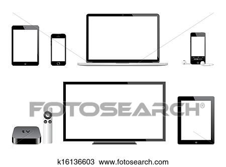 clipart of apple ipad iphone ipod mac tv k16136603 search clip art rh fotosearch com mac clip art free mac clipart word