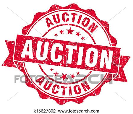 clip art of auction grunge red stamp k15627302 search clipart rh fotosearch com auction clip art pictures auction clip art