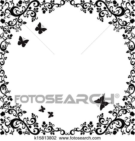 Black White Beautiful Ilration Of Fl Ornament For Your Design
