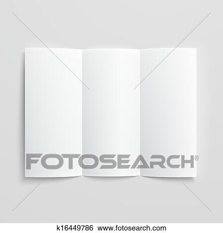 clip art of blank trifold paper brochure k16449786 search clipart