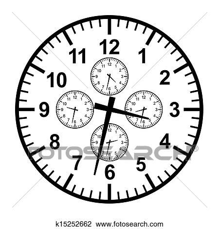 Clip Art Of Businessman Clock K15252662