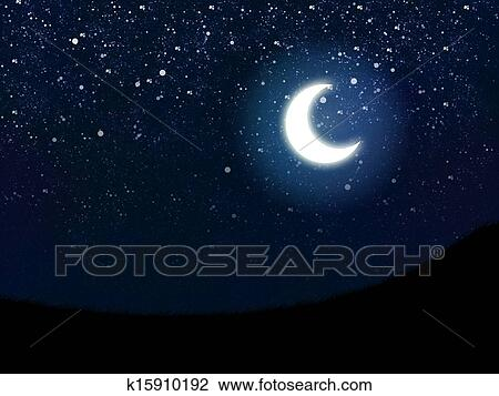 Ceu Noite Desenho K15910192 Fotosearch