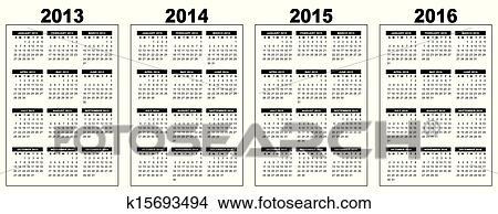 clipart of calendar 2013 2014 2015 2016 k15693494 search clip art