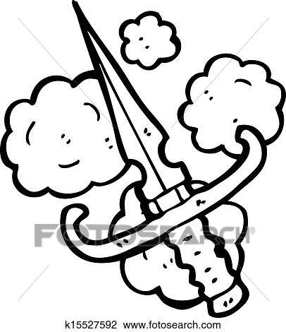 Cartoon Dagger Clipart K15527592