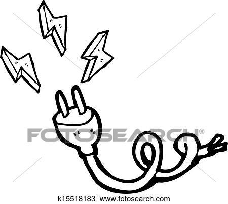 Clipart Of Cartoon Electric Plug K15518183 Search Clip Art