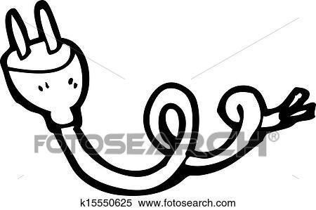 Cartoon Electrical Plug Clipart