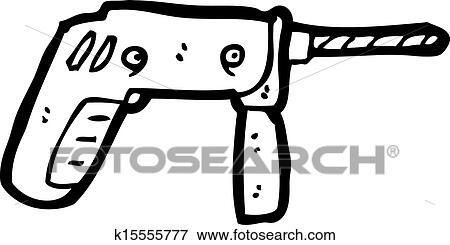 Clipart - cartoon, elektrisk boremaskine k15555777 - Søg i clipart, plakatillustrationer ...