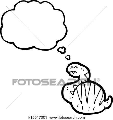 Clipart Of Cartoon Fat Snake K15547001