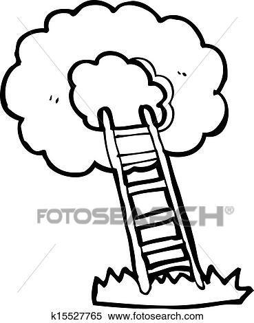 clipart of cartoon ladder to heaven k15527765 search clip art rh fotosearch com clipart heaven and earth clip art heavenly gates