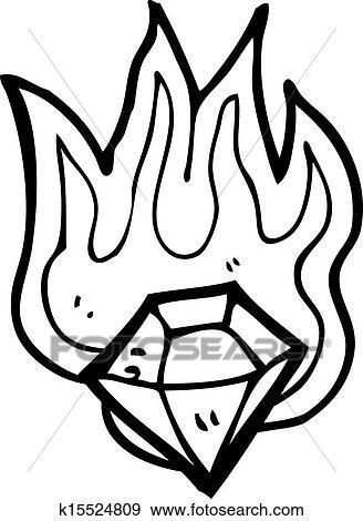 Clip Art Of Cartoon Magic Gem K15524809