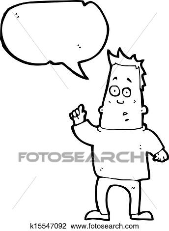 Clipart Of Cartoon Man Asking Question K15547092