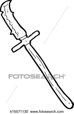 Clipart Of Cartoon Medieval Spear K15571130